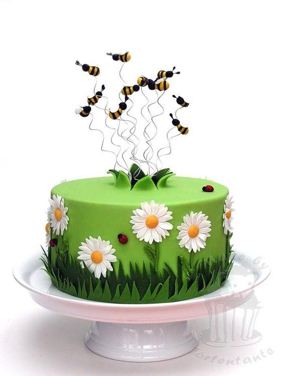 spring theme cakes