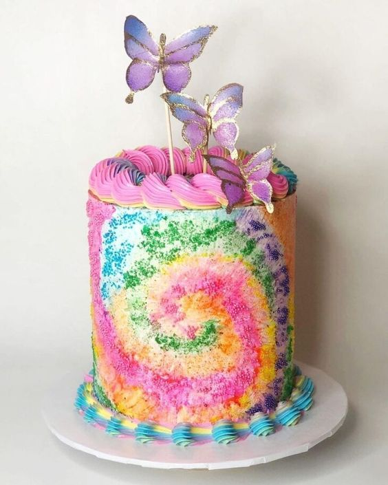 tie dye cake 6