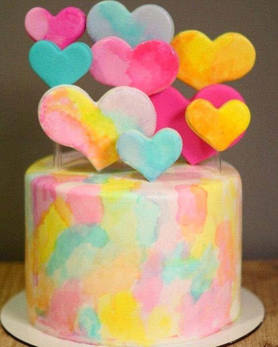 tie dye cake 7