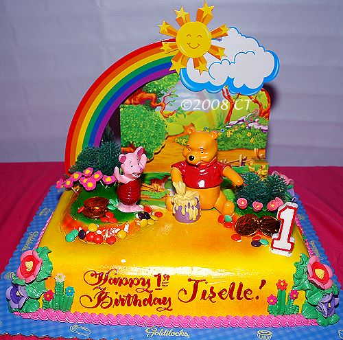 weekend snapshot jiselle 1st birthday cake goldilocks winnie the pooh